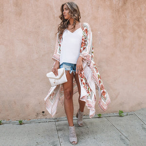 Floral beach cover up