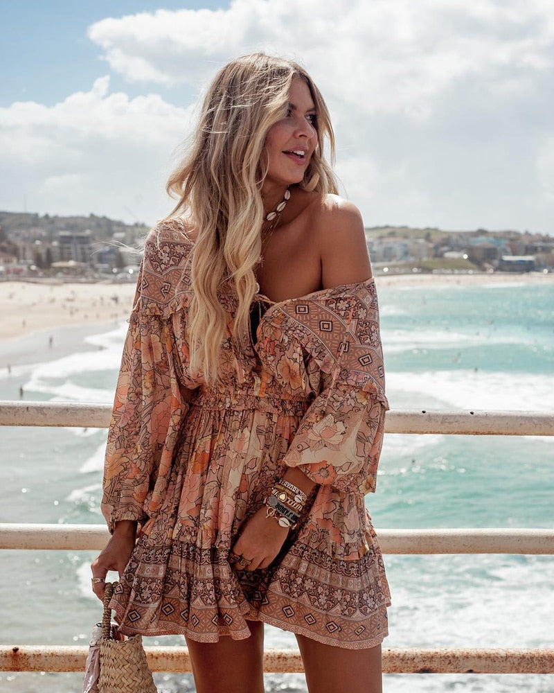 Anaise Boho Dress - Peachy Cola