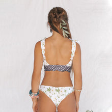 Load image into Gallery viewer, Floral tie shoulder bikini set