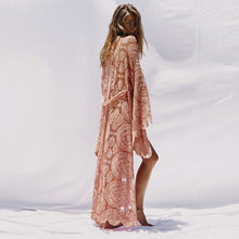 Load image into Gallery viewer, Pink lace beach kimono
