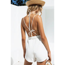 Load image into Gallery viewer, White backless playsuit