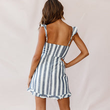 Load image into Gallery viewer, Grey stripe sun dress