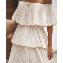 Load image into Gallery viewer, Beige pleated dress