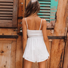 Load image into Gallery viewer, White ruffle play suit