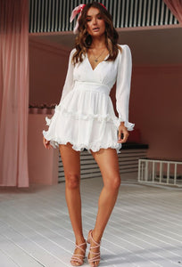 Kinsley White Mini Dress