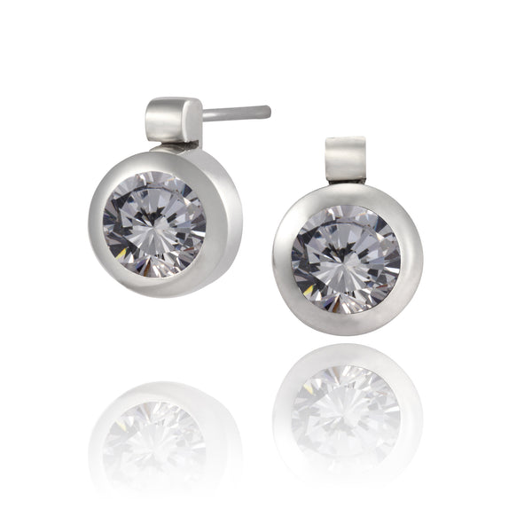 Karen™ Earring Post CZ