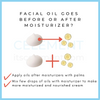 Facial oil should be used before or after moisturizer?