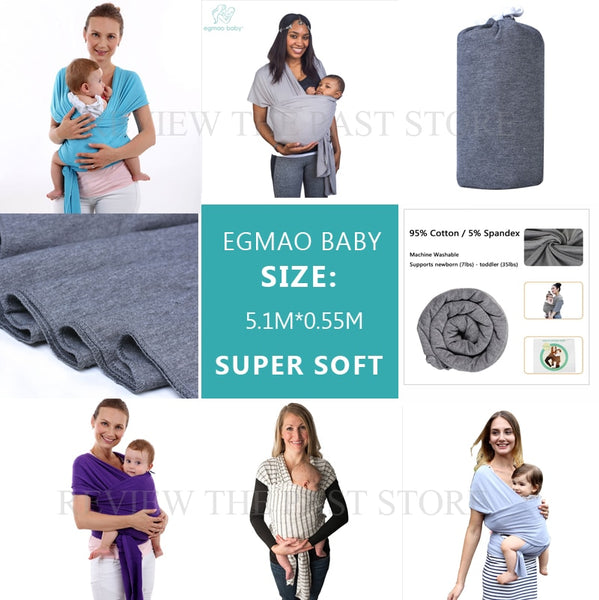 [Baby Carrier] Newborns Soft Sling Wrap Breathable Nursing Cover