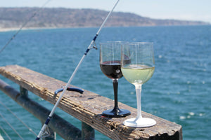 Outdoor Wine Glass with Carrier
