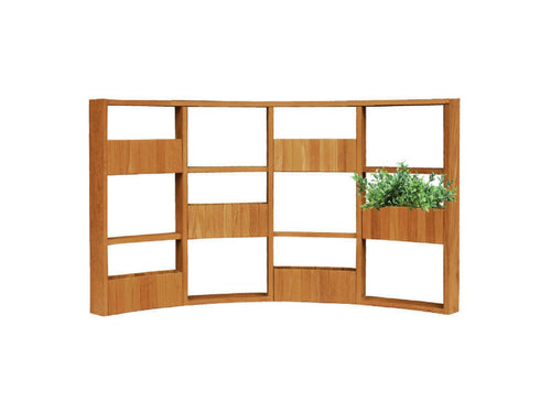 Teakwood Greenwall Panel Curve, 4 x 3