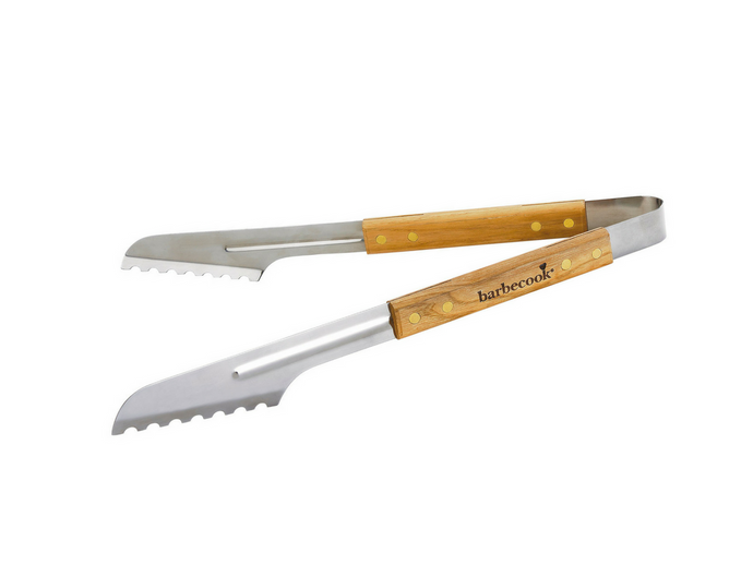 Deluxe Tong, Thick S/S with Wooden Handle