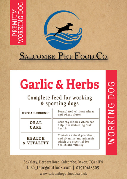 Working Dog Premium Garlic and Herbs
