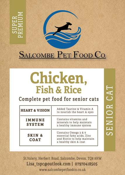 Super Premium Senior Cat, Chicken, Fish and Rice