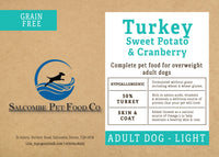 Grain Free Adult Light, Turkey, Sweet Potato and Cranberry