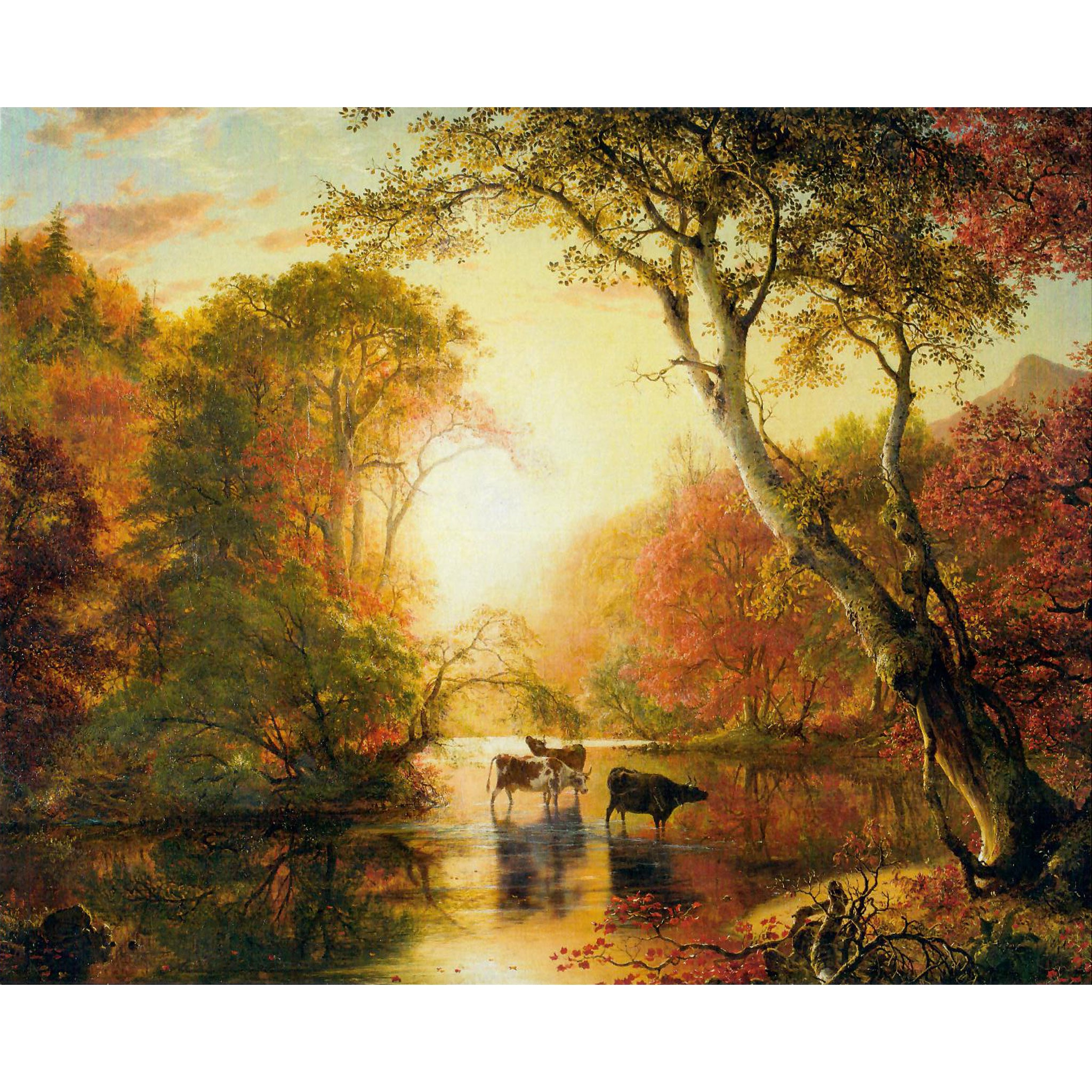 "Autumn by Frederic Church 8""x10"" Print"