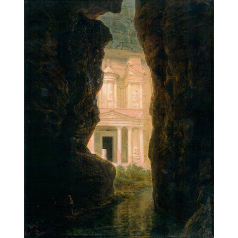 "El Khasne, Petra by Frederic Church Print 11""x14"""