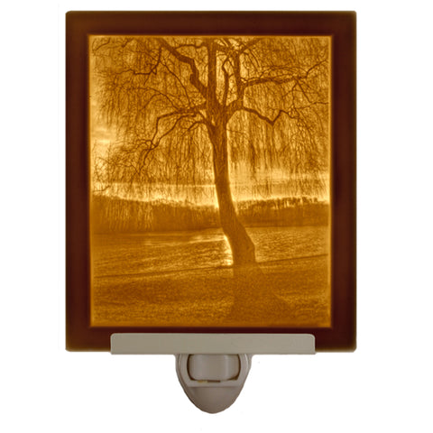 Willow Sunset Flat Pane Porcelain Nightlight