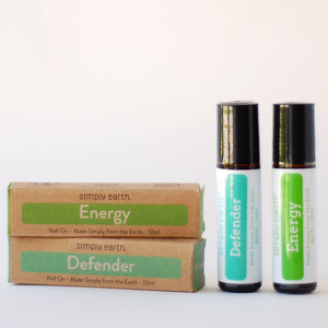 Simply Earth Defender Roll On and Simply Earth Energy Roll On