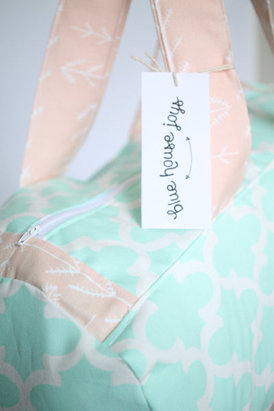 The Bravery Bag - Mint and Peach