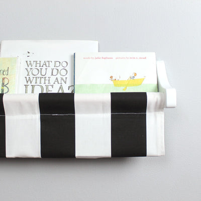 Black and White Stripe Book Sling