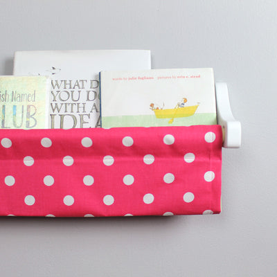 Bright Pink Dot Book Sling