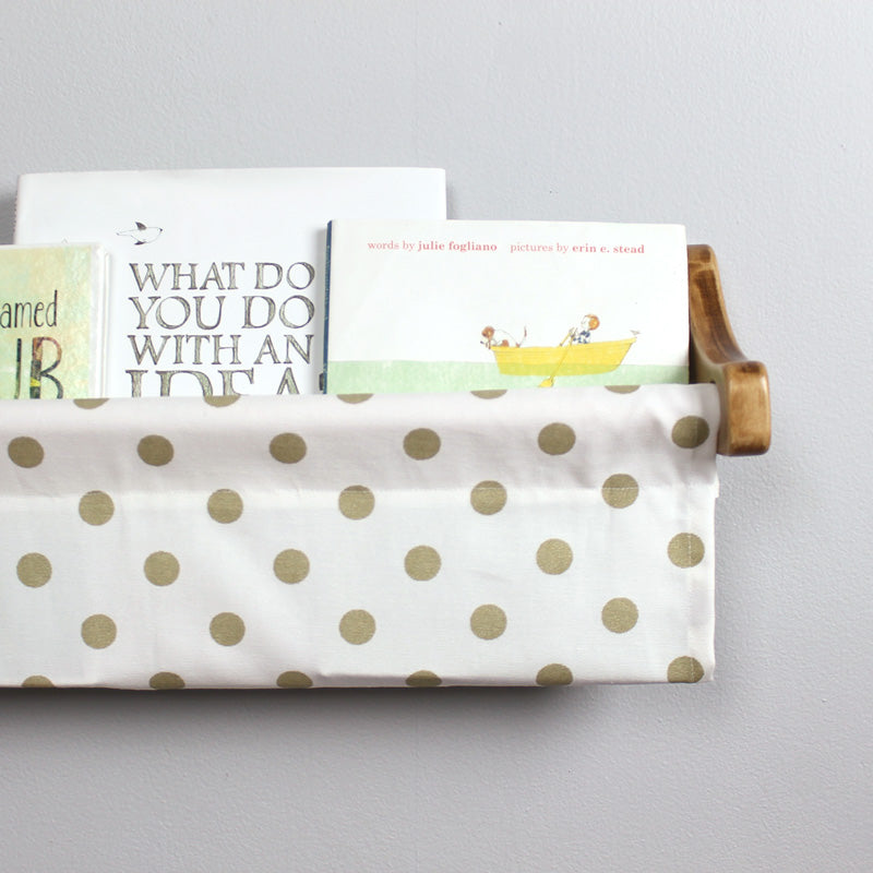 Polka Dot Subtle Gold Shimmer Book Sling