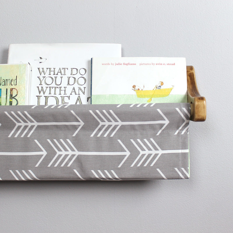 Grey and White Arrow Book Sling
