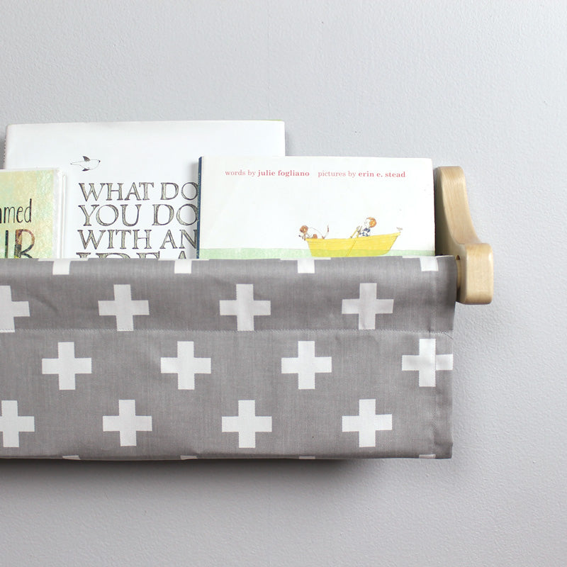 Grey and White Swiss Cross Book Sling