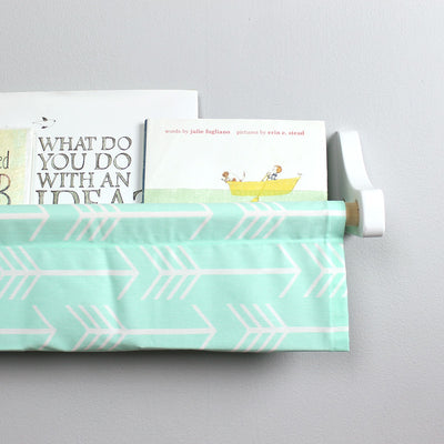 Mint and White Arrow Book Sling