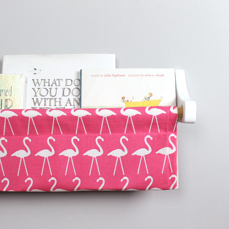 Bright Pink Flamingo Book Sling