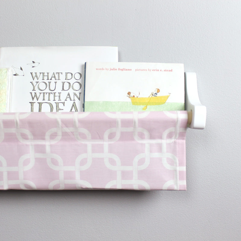 Pink and White Box Book Sling