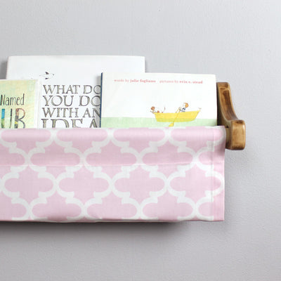Light Pink and White Trellis Book Sling