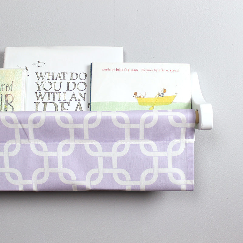 Lavender and White Box Book Sling