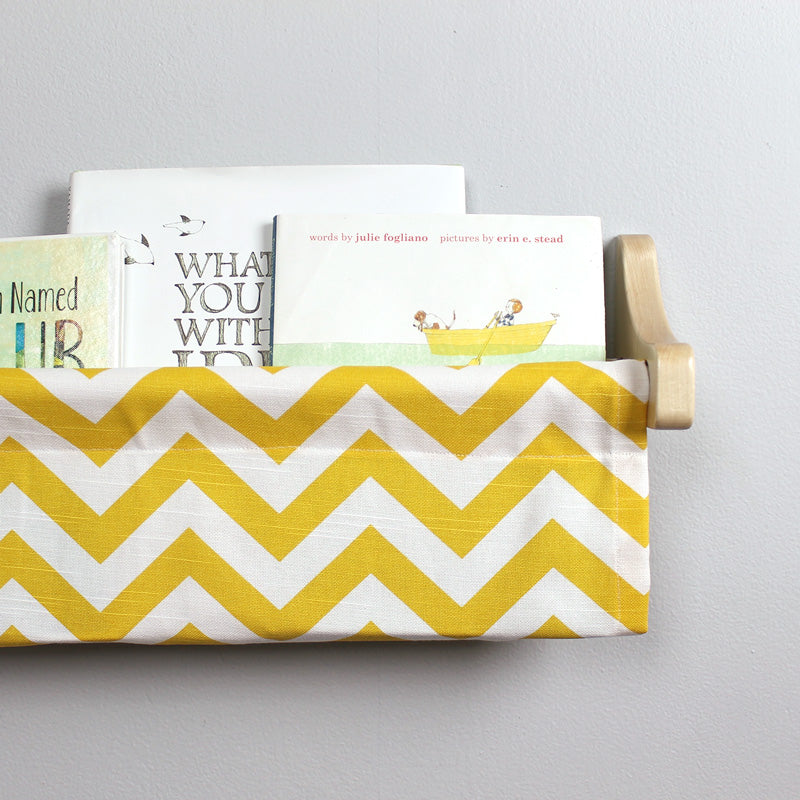Yellow and White Chevron Book Sling