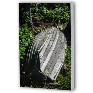 Fine Art Canvas Print, Michigan, Isle Royale, Weathered Boat