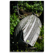 Load image into Gallery viewer, Fine Art Metal Print, Color Photography, Isle Royale, Weathered Boat