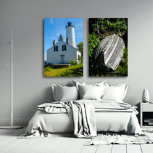 Load image into Gallery viewer, Fine Art Metal Print, Color Photography, Isle Royale, Lighthouse