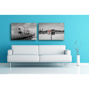 Fine Art Metal Print, Beach Photography, California, Santa Monica Pier, Ferris Wheel