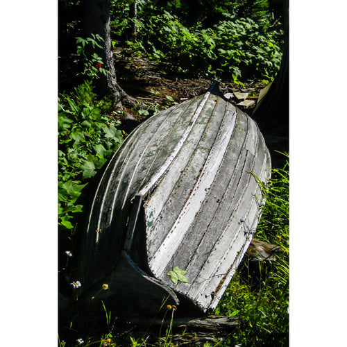Fine Art Print, Michigan, Isle Royale, Weathered Boat