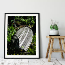 Load image into Gallery viewer, Framed Fine Art Print, Weathered Boat, Michigan, Isle Royale