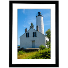 Load image into Gallery viewer, Framed Fine Art Print, Lighthouse, Michigan, Isle Royale