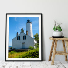 Load image into Gallery viewer, Fine Art Print, Michigan, Isle Royale, Lighthouse