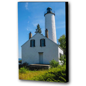 Fine Art Canvas Print, Michigan, Isle Royale, Lighthouse