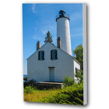 Load image into Gallery viewer, Fine Art Canvas Print, Michigan, Isle Royale, Lighthouse