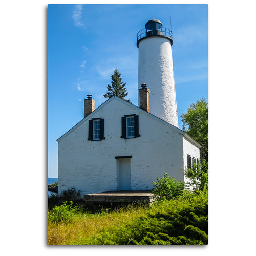 Fine Art Metal Print, Color Photography, Isle Royale, Lighthouse