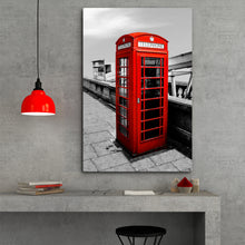 Load image into Gallery viewer, Fine Art Metal Print, Europe Photography, London Phone Booth
