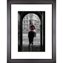Load image into Gallery viewer, Framed Fine Art Print, London Guard on Horse