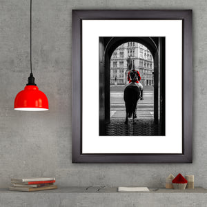 Framed Fine Art Print, London Guard on Horse