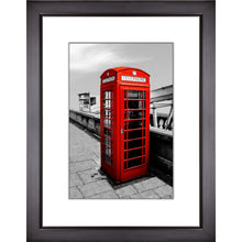 Load image into Gallery viewer, Framed Fine Art Print, London Phone Booth