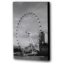Load image into Gallery viewer, Fine Art Canvas Print, London England, London Eye, Ferris Wheel